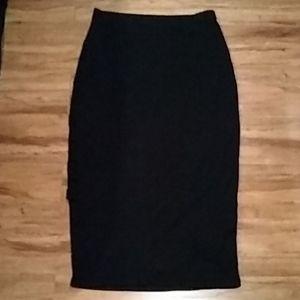 Guess black cut off/ slit skirt